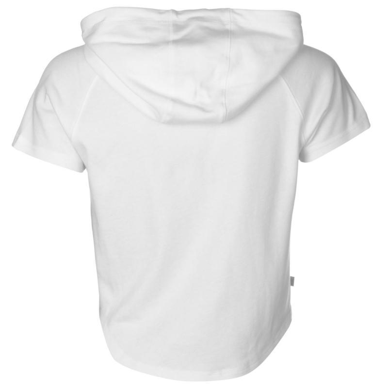 Mikina s kapucí LA Gear Interlock Cap Sleeve Zip Top Womens White