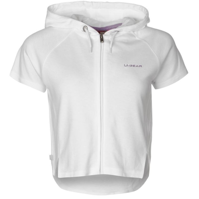 Svetr LA Gear Interlock Cap Sleeve Zip Top Womens White