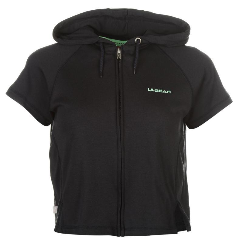Mikina s kapucí LA Gear Interlock Cap Sleeve Zip Top Womens Navy