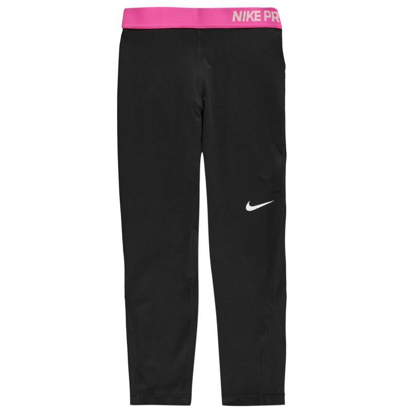 Nike Pro Capri Pants Ladies Black/Pink