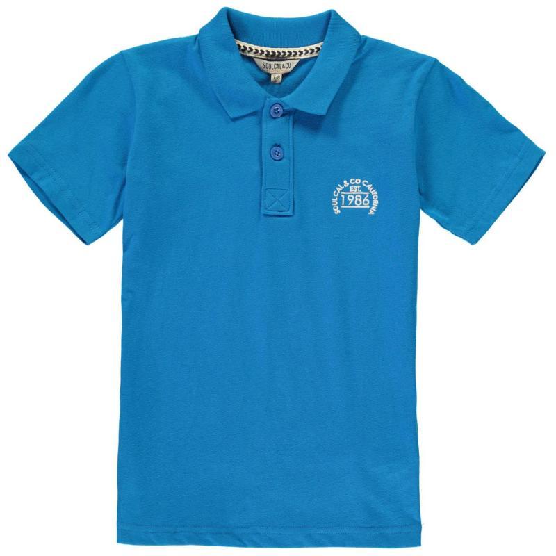 SoulCal Signature Peached Polo Shirt Junior Boys Methyl Blue
