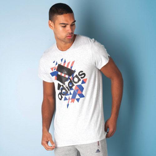Tričko Adidas ENERGY LOGO Grey Marl