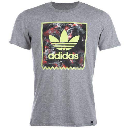 Tričko Adidas Originals Mens Floral Storm Fill T-Shirt Grey Marl