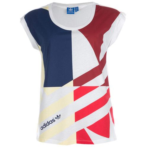 Adidas Originals Womens Deconstructed Trefoil T-Shirt White