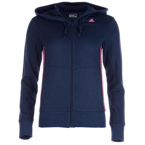 Adidas Womens Essentials Mid 3 Stripes Zip Hoody Navy, Velikost: 20 (3XL)
