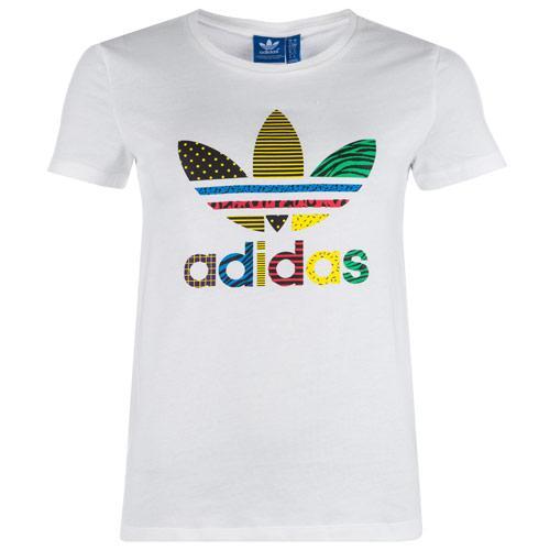 Adidas Originals Womens Trefoil T-Shirt White