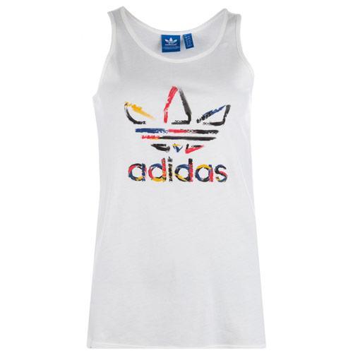 Adidas Originals Womens Trefoil Tank White