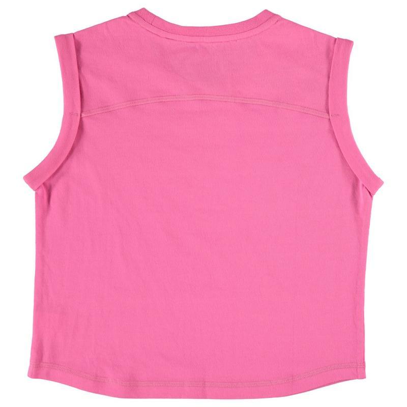 Lonsdale Boxy T Shirt Junior Girls Pink