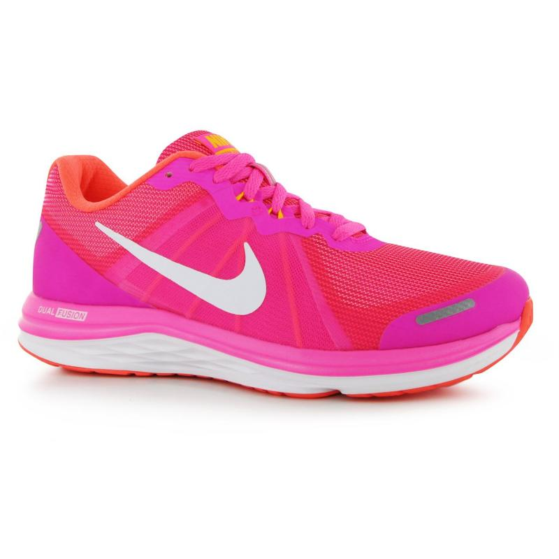 Boty Nike Dual Fusion X Ladies Trainers Pink/White, Velikost: UK4 (euro 37)