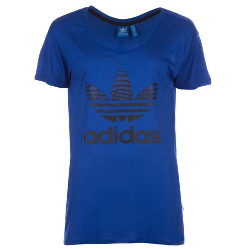 Adidas Originals Womens NY Trefoil T-Shirt Blue