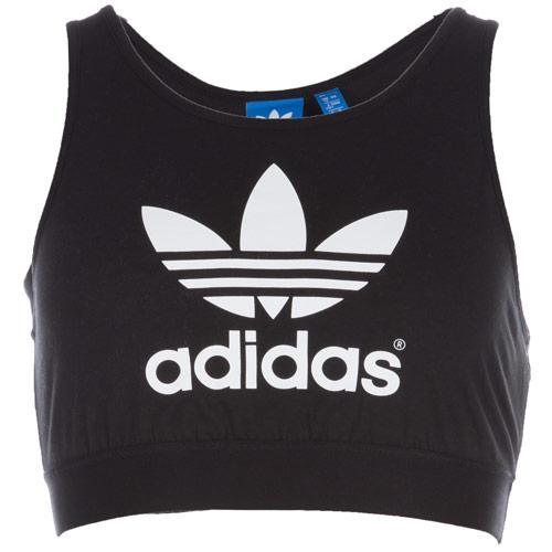 Adidas Originals Womens Trefoil Bra Top Black