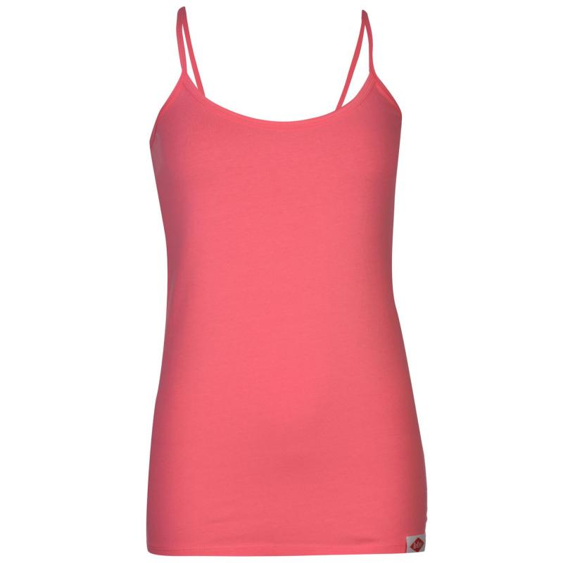 Lee Cooper Strappy Vest Ladies Fuschia