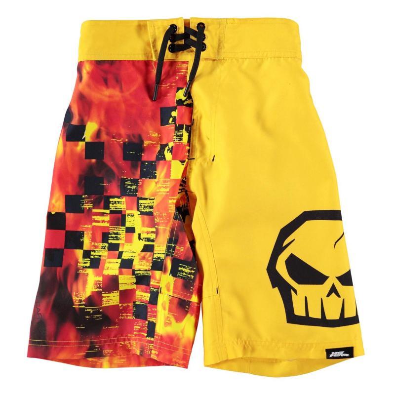 Plavky No Fear Board Shorts Junior Boys Green Star, Velikost: 9-10 let (MB)