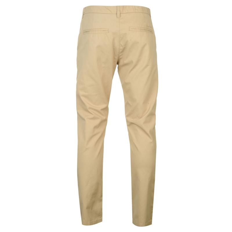 Kalhoty Pierre Cardin Chino Trousers Mens Tan