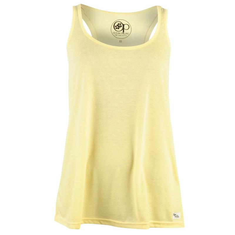 Ocean Pacific Long Vest Ladies Yellow
