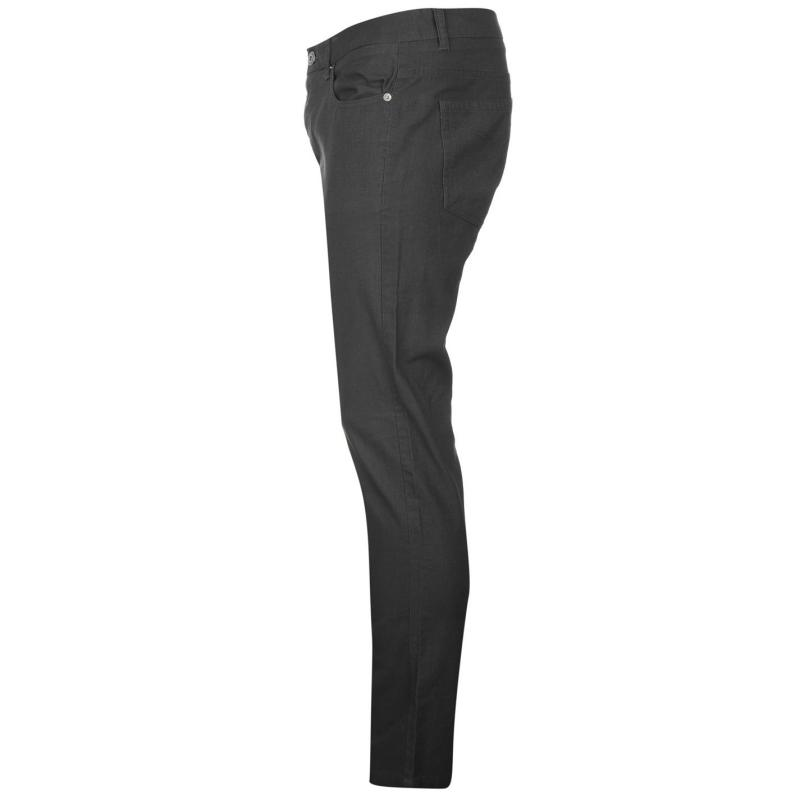 Kalhoty Pierre Cardin Bedford Cord Trousers Mens Grey