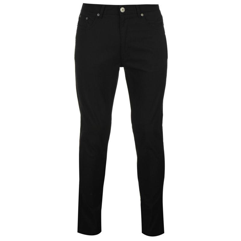 Kalhoty Pierre Cardin Bedford Cord Trousers Mens Black