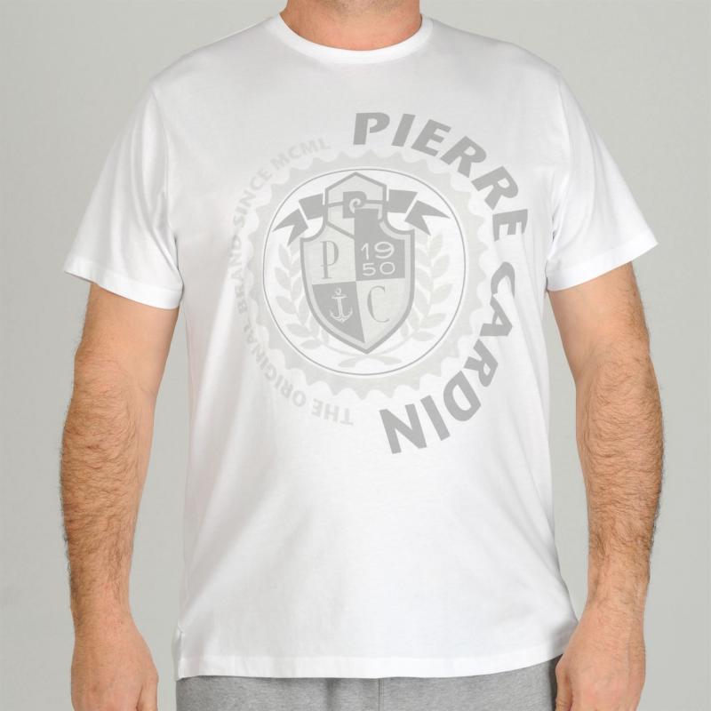 Tričko Pierre Cardin Pastel T Shirt Mens White