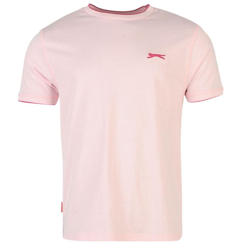 Slazenger Tipped T Shirt Mens Pink