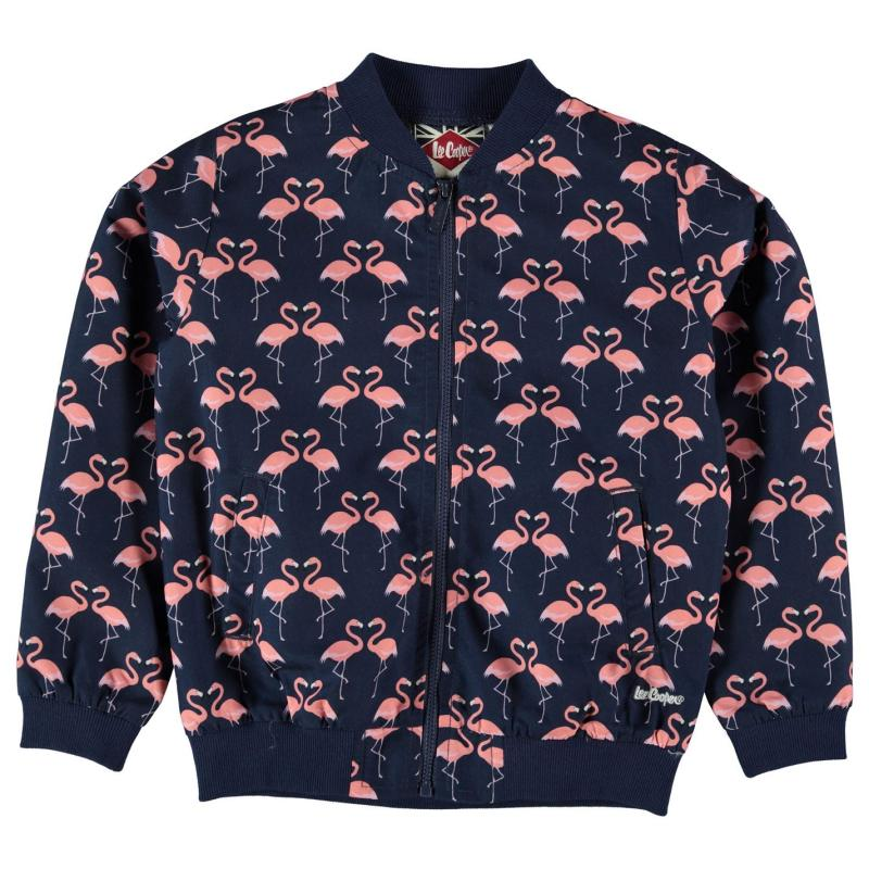 Lee Cooper AOP Bomber Infant Girls AOP Flamingo