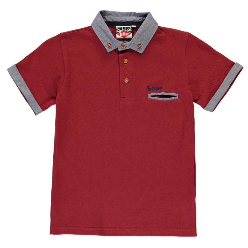 Lee Cooper: burgundy polo shirt boys