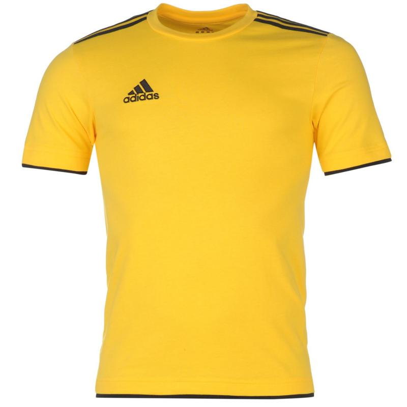 Tričko adidas Core 11 Football T Shirt Mens Yellow/Black
