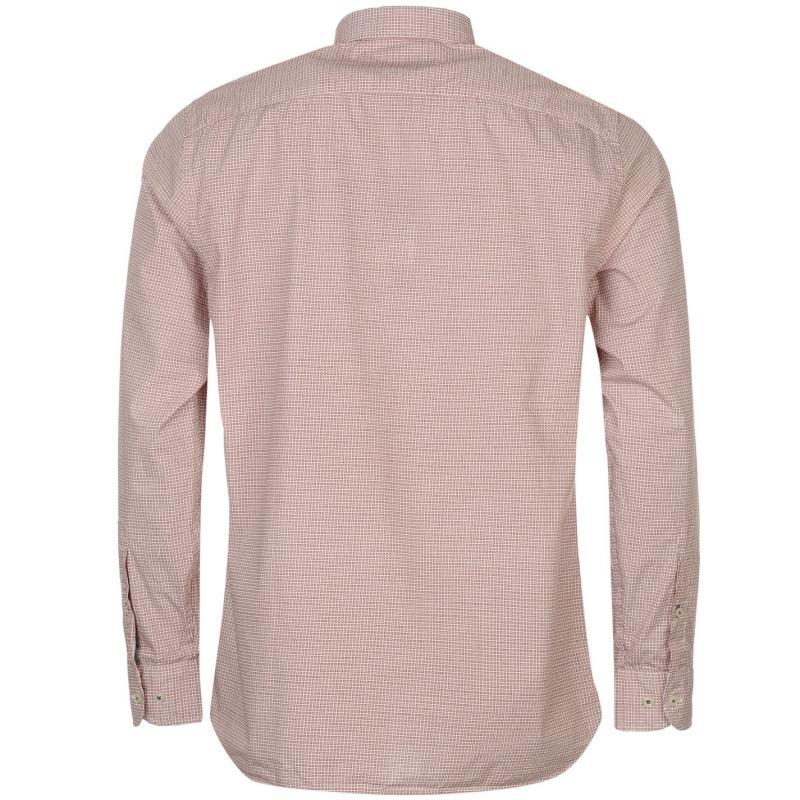 Košile Hilfiger Denim Taylor Print Mens Shirt Red, Velikost: S