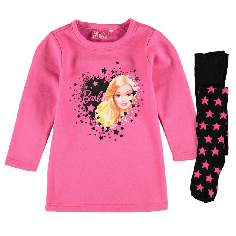 Šaty Character Fleece Dress Set Infant Girls Barbie