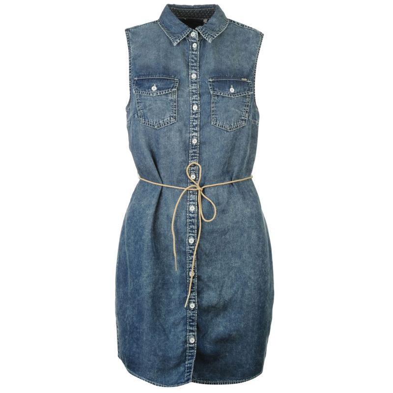 Šaty Only Claire Denim Dress Denim Blue