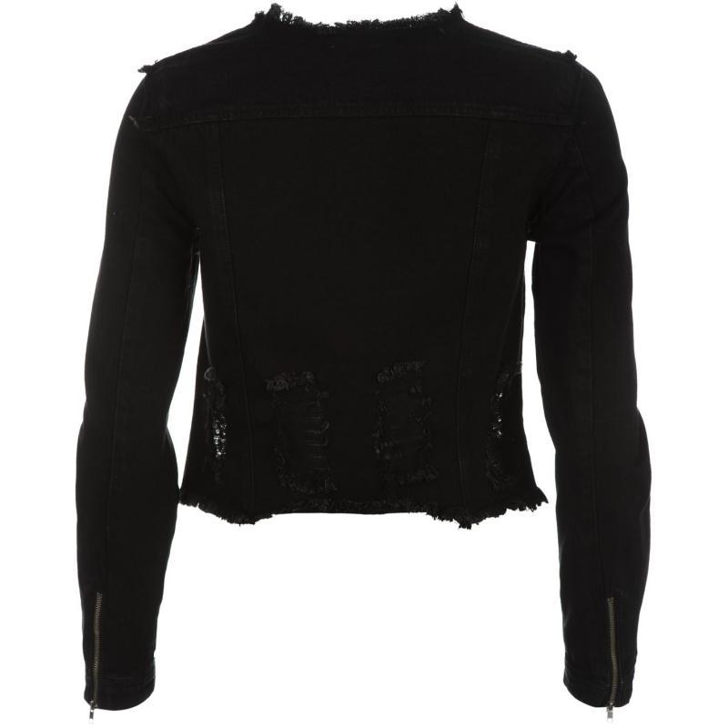 Bunda Vero Moda Lily Allen Miri Destroy Denim Jacket Black