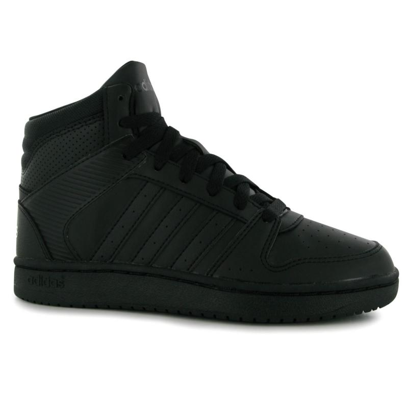 adidas Hoopster Mid Cut Trainers Ladies Black/Black, Velikost: UK5 (euro 38)