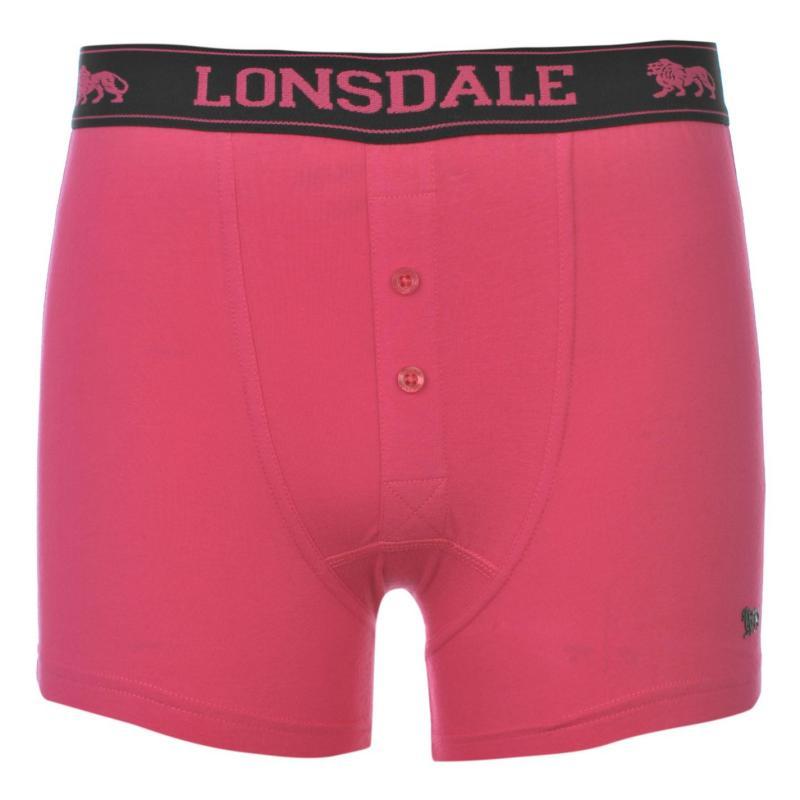 Bunda Lonsdale 2 Pack Boxers Junior Morocc Blue/Wht