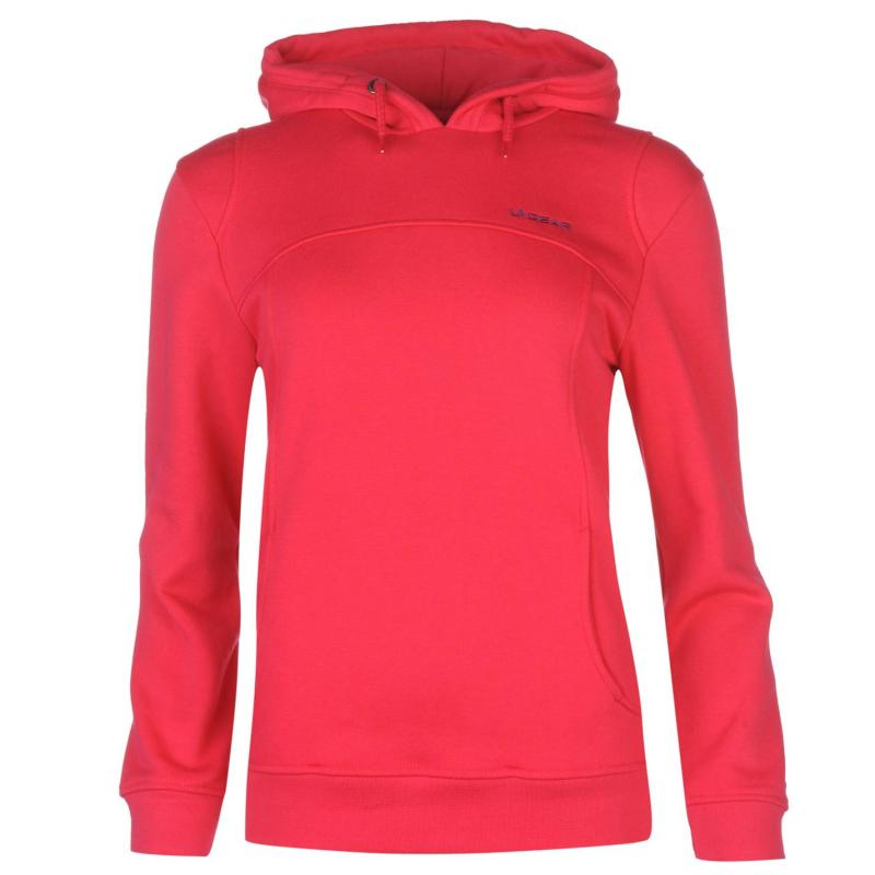 Mikina s kapucí LA Gear Over The Head Hoody Ladies Rose Pink