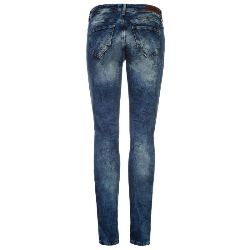 Vero Moda Lily Allen Womens Slim Jeans Med Blue Denim