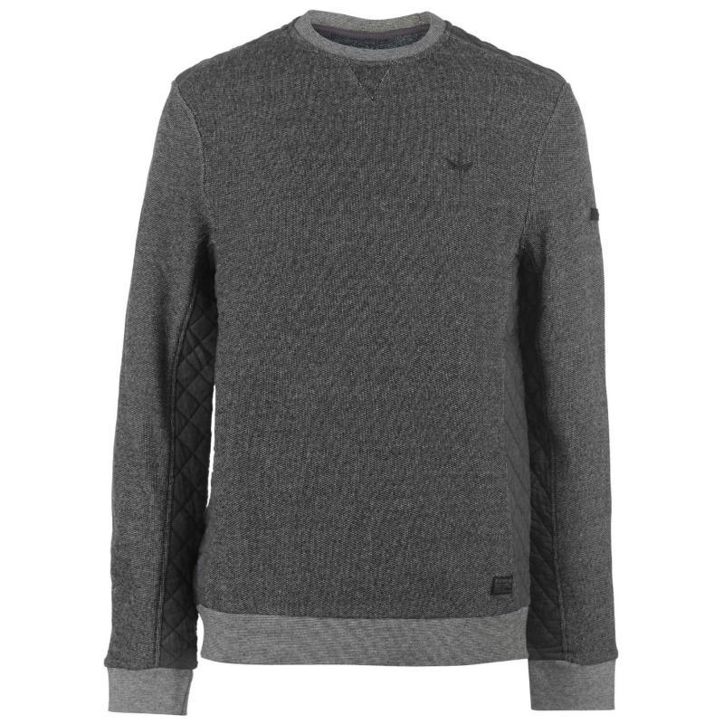 Mikina Firetrap Church Crew Sweater Charcoal /Navy