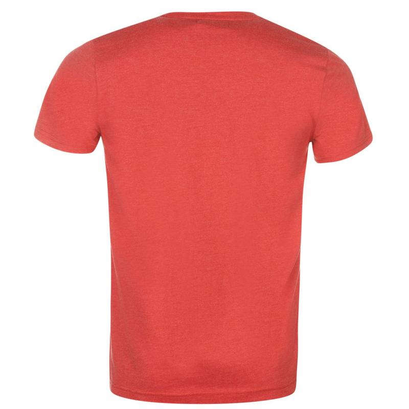 Tričko Pierre Cardin Marl Print Tshirt Mens Red Marl