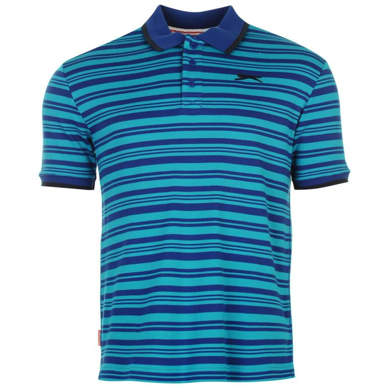 Slazenger Interlock Yarn Dye Polo Shirt Mens Navy 2
