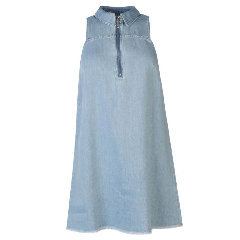 Šaty Vero Moda Mini Dress Lgt Blue Denim