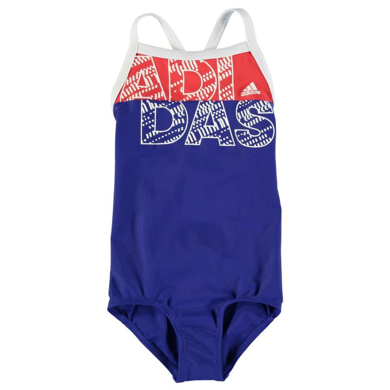 adidas BTS Lined Swim suit Junior Girls Royal/Ray Red, Velikost: 11-12 let (LB)