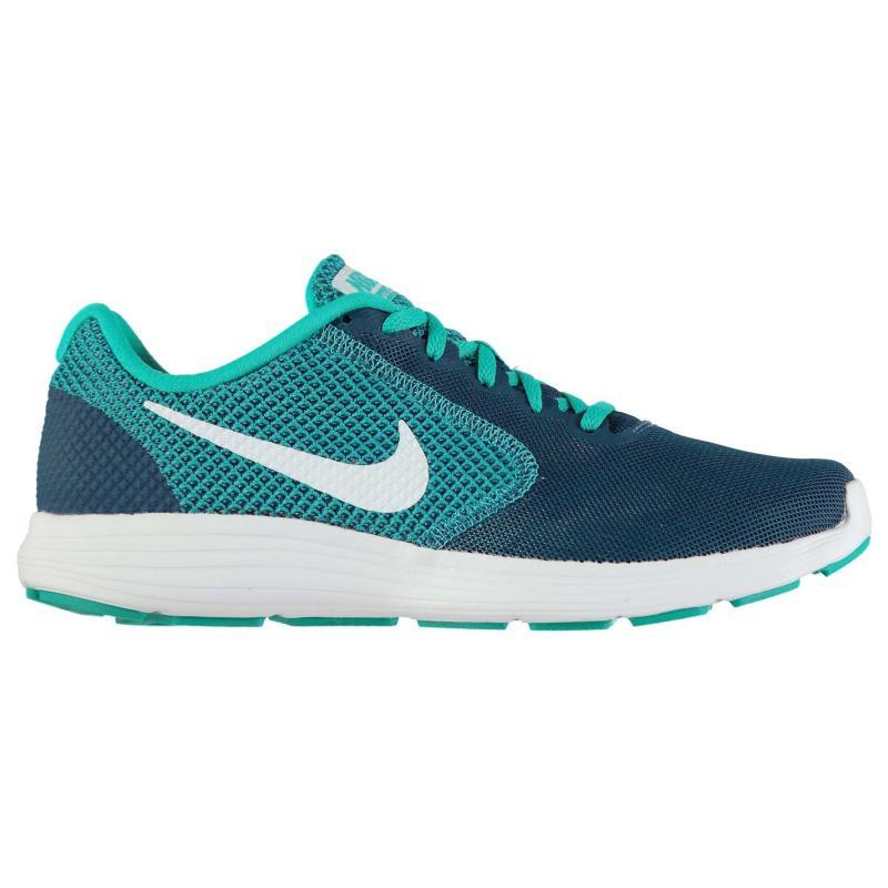 Boty Nike Revolution 3 Running Shoes Mens DkBlue/Volt
