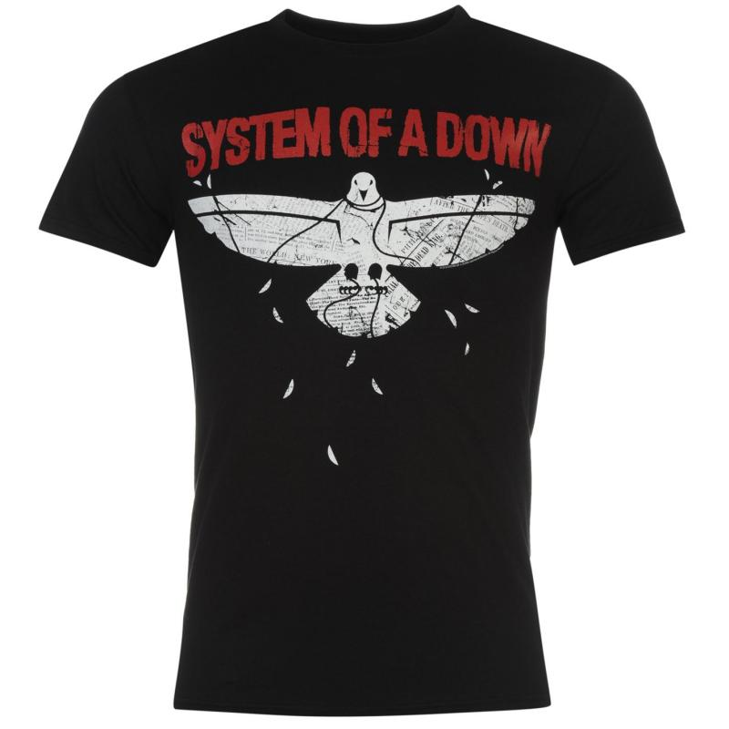 Tričko Official System Of A Down T Shirt Mens Overcome, Velikost: S