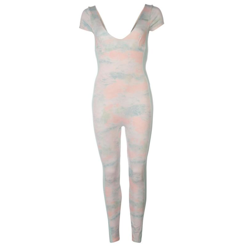 USA Pro AOP Unitard Ladies PinkMarble/Blue