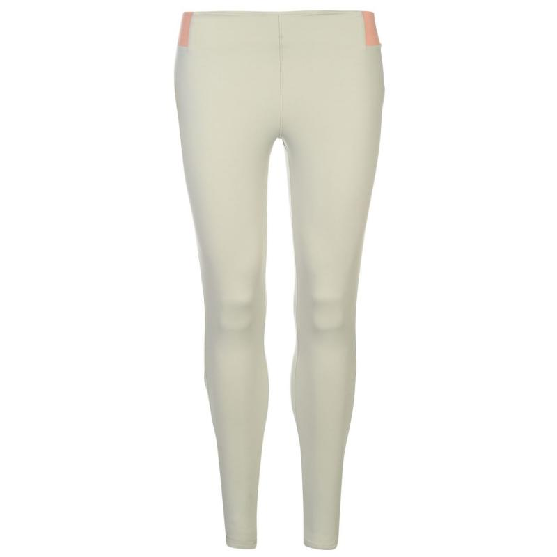 USA Pro Panel Leggings Ladies Grey/Peach