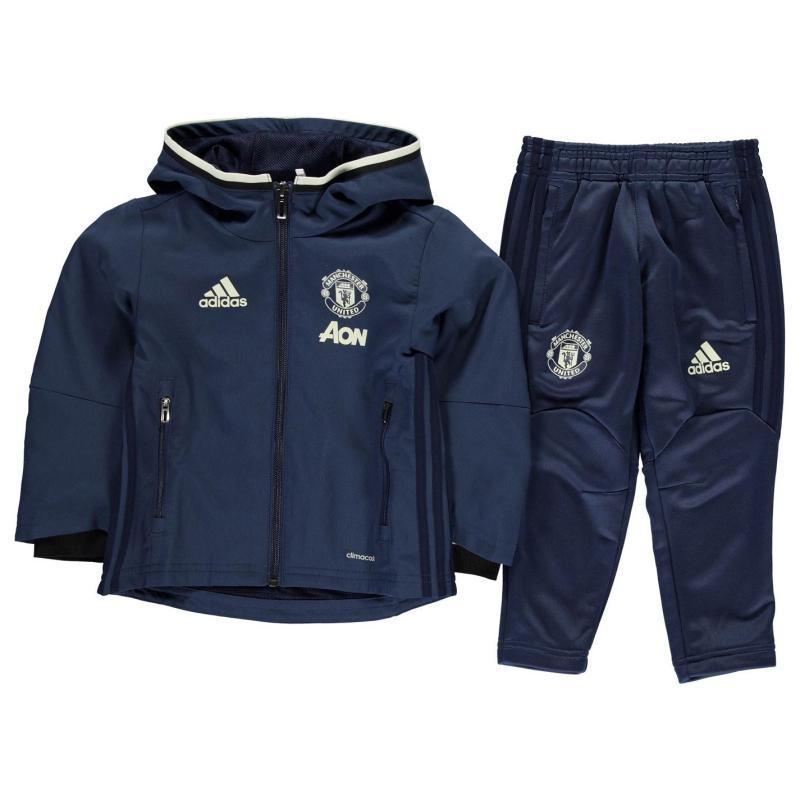 Tepláky adidas Manchester United Pre Match Track Suit Infants Blue/Navy