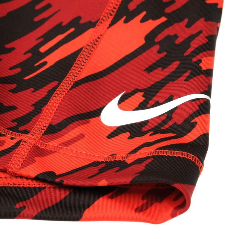 Nike Pro 3 Inch Graphic Shorts Ladies Red