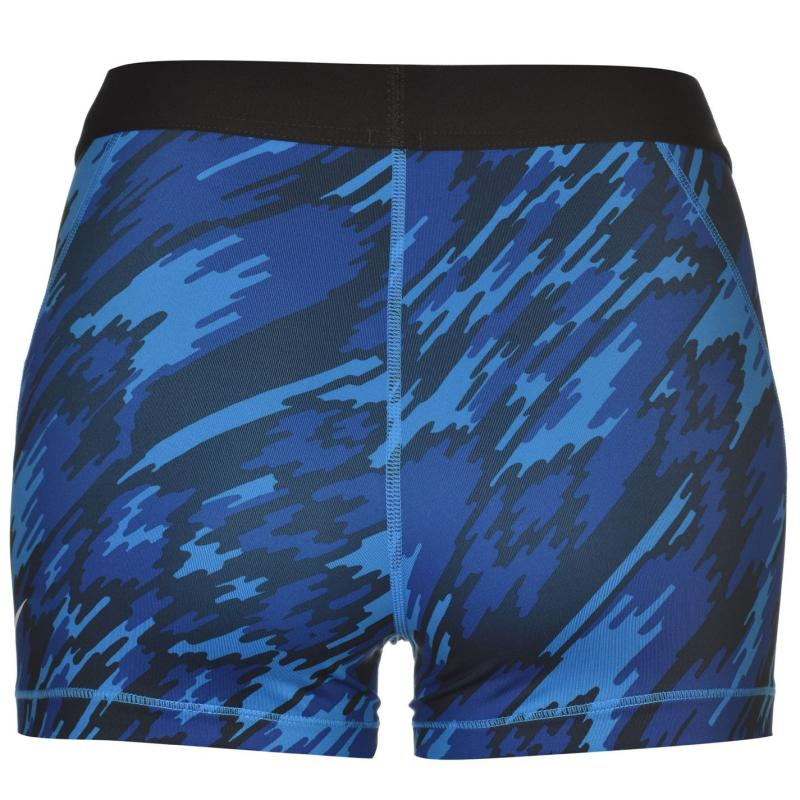 Nike Pro 3 Inch Graphic Shorts Ladies Blue