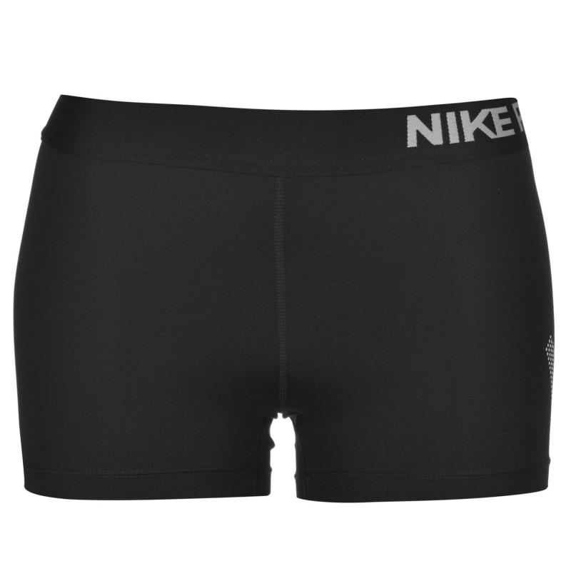Šortky Nike Pro 3 Inch Graphic Shorts Ladies Black/White