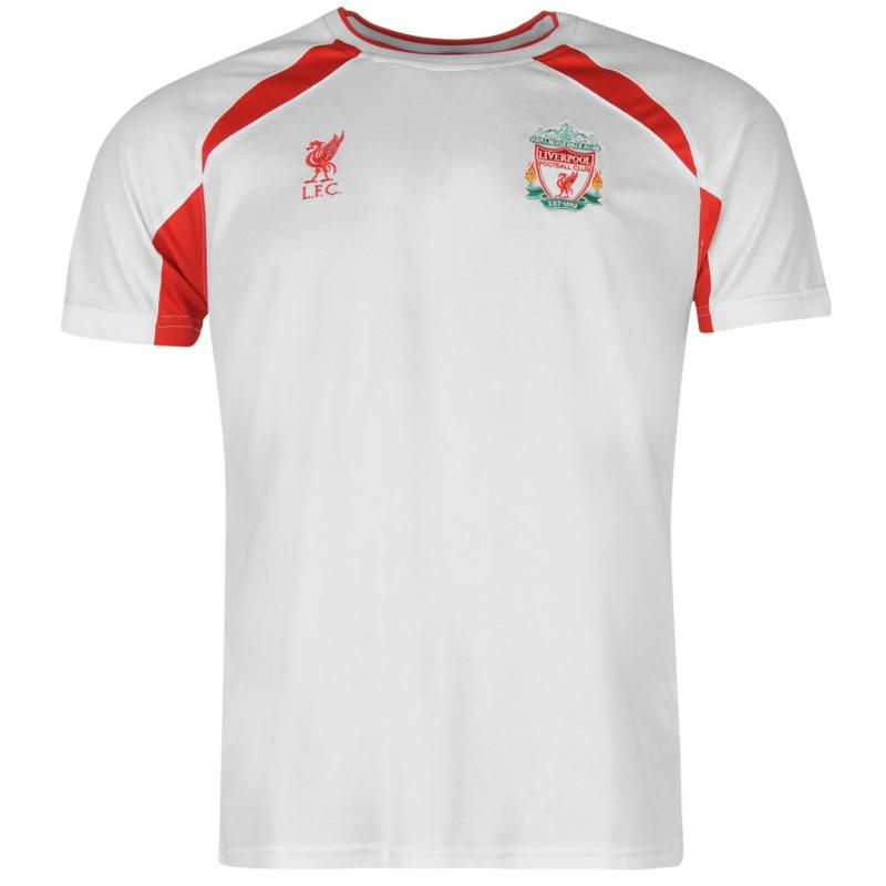 Tričko Source Lab Liverpool FC Poly T Shirt Mens White