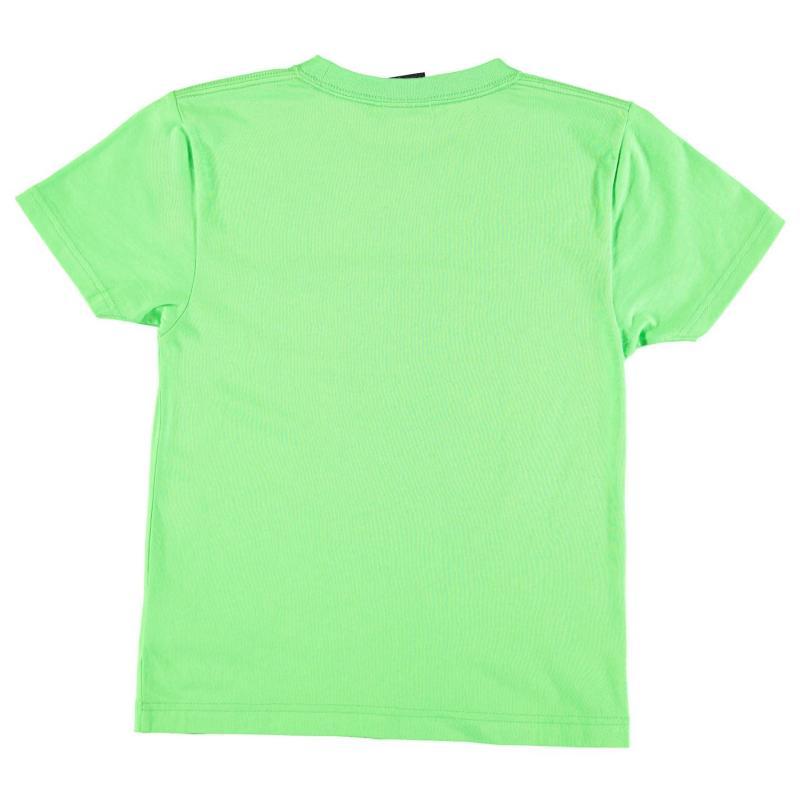 Tričko No Fear Moto Graphic Tshirt Junior Boys Green Stuntmen