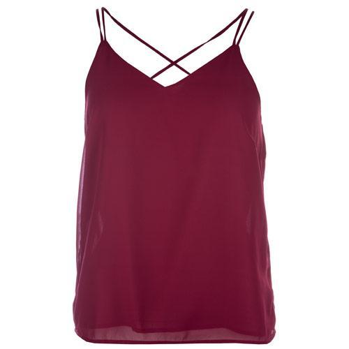 Vero Moda Womens Mynthe Vest Berry
